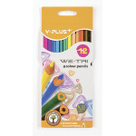 Карандаши треугольные YPLUS, 12 цветов