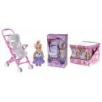 Кукла с коляской,10 см
