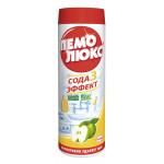 Чистящий порошок ПЕМОЛЮКС Сода 3 эффект Яблоко, 400 г
