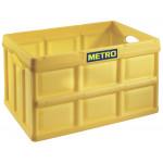 Ящик складной желтый  HORECA SELECT, 46 л