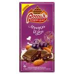 Шоколад РОССИЯ Щедрая душа миндаль и изюм, 90г