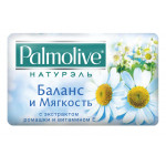 Туалетное мыло PALMOLIVE Баланс и Мягкость (с экстрактом ромашки и витамином Е), 90 г