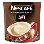 Кофе NESCAFE 3 в 1 карамельный вкус растворимый, 20х16г