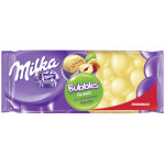 Шоколад белый MILKA пористый фундук, 83г