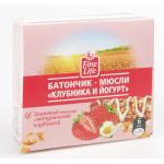 Батончик мюсли FINE LIFE Клубника и йогурт, 24 г