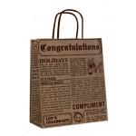 Эко сумка Газета, 25*10*32 см