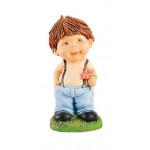 Фигура декоративная Мальчик с цветком, 47*22 см