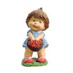 Фигура декоративная Девочка с цветами, 46 см