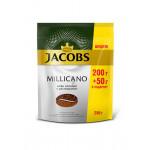 Кофе молотый в растворимом JACOBS Monarch Millicano, 200+50 г