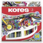 Набор карандашей KORES Kolores в упаковке, 50 цветов