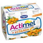 Функциональный напиток ACTIMEL облепиха в упаковке, 6х100г