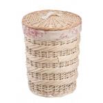 Корзина для белья плетеная NATURAL HOUSE Роза круглая