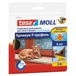 Уплотнитель для окон TESA Moll Премиум Р-Профиль коричневый, 6м