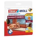 Уплотнитель резиновый TESA Moll Премиум D-профиль коричневый, 6м