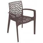 Кресло пластиковое GRUVYER коричневое