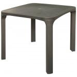 Стол пластиковый GRUVYER серый, 80х80 см