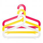 Плечики для детской одежды АРХИМЕД пластиковые цветные, 3 шт