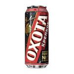 Пиво ОХОТА крепкое в железной банке 0.45л в упаковке, 24 шт