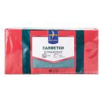 Салфетки бумажные METRO PROFESSIONAL двухслойные красные 24х24см в упаковке, 250 шт