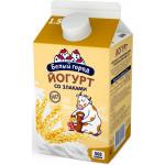 Йогурт питьевой БЕЛЫЙ ГОРОД со злаками 1,5%, 500г