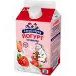 Йогурт питьевой БЕЛЫЙ ГОРОД Клубника 1,5%, 500г