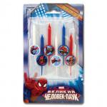 Свечи для торта MARVEL Человек-паук в упаковке, 6шт