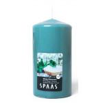 Свеча ароматизированная SPAAS Мятный хаммам столбик изумрудная, 8х15см