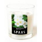 Свеча ароматическая SPAAS Божественный жасмин в стакане бежевая, на 25ч