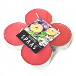 Свечи ароматические SPAAS Арома Макси Тропический восторг чайные в упаковке, 4шт