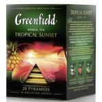 Чай черный GREENFIELD Tropical Sunset в пирамидках, 20х1,8г