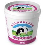 Сметанный продукт АЛЬПИЙСКАЯ КОРОВКА 30%, 900г