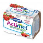 Функциональный напиток ACTIMEL земляника/шиповник в упаковке, 6х100г