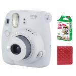Instax mini Фотопленка + Фотоальбом + Instax mini 9 Smokey White Фотоаппарат моментальной печати