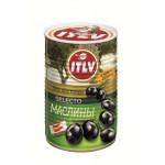 Маслины черные ITLV Selecto без косточки, 425мл