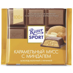 Шоколад молочный RITTER SPORT Карамельный мусс, 100г