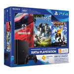4 500 Гб (CUH-2108A) + DriveClub + Horizon Zero Dawn + Ratchet Clank + PlayStation Plus 3 месяца Игровая консоль