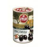 Маслины черные ITLV с косточкой, 425мл