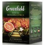 Чай черный GREENFIELD Sicilian Citrus в пирамидках, 20х1,8г