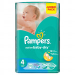Подгузники PAMPERS Active Baby-Dry maxi 4 (7-14кг) Jumbo pack, 70шт