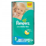 Подгузники PAMPERS Active Baby-Dry junior 5 (11-25кг) Jumbo pack, 58шт