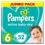 Подгузники PAMPERS Active Baby-Dry (13-18кг) Jumbo pack, 52шт