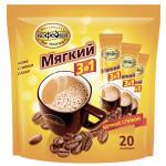Кофе растворимый МОСКОВСКАЯ КОФЕЙНЯ НА ПАЯХЪ Мягкий 3 в 1, 20 пакетиков