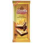 Шоколад РОССИЯ Щедрая Душа Темный и белый с цедрой апельсина, 85 г