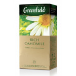 Чай GREENFIELD Rich Camomile, 25х1,5г
