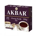 Чай черный AKBAR пакетированный в упаковке, 100х2г