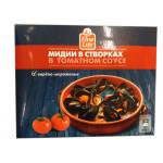 Мидии в створках FINE LIFE в томатном соусе, 450 г