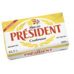 Масло сливочное PRESIDENT 82,5%, 200 г