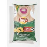 Чипсы LAYS Рифленые Нежный сыр с луком, 150 г