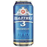 Пиво БАЛТИКА Классическое №3 светлое в железной банке, 0,9л