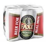 Пиво светлое FAXE Premium лагер железная банка в упаковке, 6х0,45 л